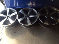 Audi A3 2009 2010 2011 2012 18 inch rotor alloy wheels *only 3 available copies not genuine