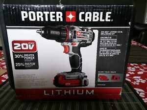 NEW - Porter Cable 20Volt Lithium-Ion 1/2-in Cordless Drill