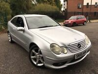 2005 MERCEDES C220 CDI SPORTS EDITION AUTO 147.5BHP FULL LEATHER INTERIOR ALLOYS CD AC