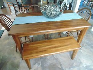 Ashley Furniture Kitchen Table with 4 Chairs and Bench