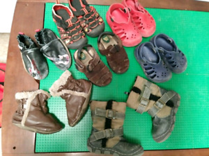 Toddler size 7 shoes and boots $5-10 each