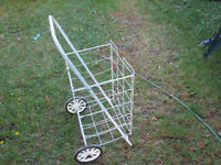 wheeled shopping cart