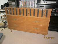 6 Drawer Wood Dresser For Sale