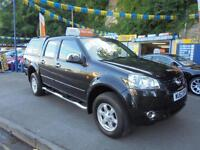2012 62 GREAT WALL STEED 2.0 TD SE 4X4 IN BLACK # ONE OWNER GREAT VALUE #