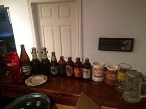Collectible Beer Bottles, Steins and bar glassware