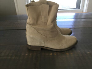 NUDE Suede high quality boots women's 6.5