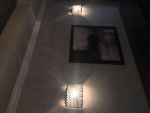 Beautiful wall sconces (2), Dining room, bedroom