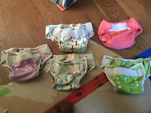 5 cloth diaper covers Thirsties and Mother Ease size 2