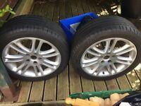 "2 X 20"" Vauxhall Insignia wheels"