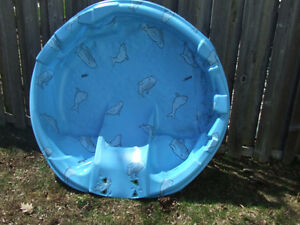 Baby pool with slide