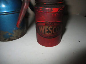 2 Vintage Oil Cans--Wesco & Perfetto--Made in England & Italy Kitchener / Waterloo Kitchener Area image 2