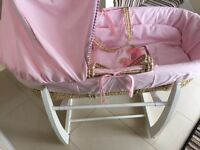 Mamas and papas Moses basket with swinging stand