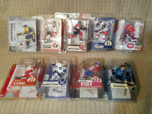 NEW COLLECTOR NHL DEBUT ACTION FIGURES