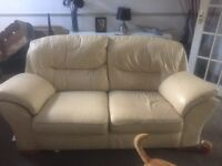 Cream DFS sofa Large 2 seater and 2x 1 seater