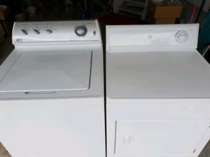 Washer and dryer white color