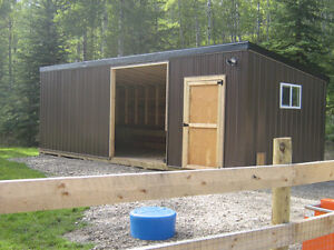 Shelter for Horses or Donkeys with secure Tack/Feed Storage