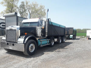 2009 freightliner dump truck and pup
