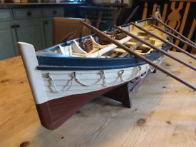 Large model clinker fishing boat lifeboat