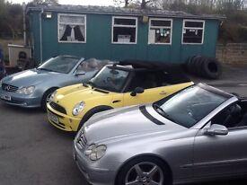 Convertible Mercedes bmw minis