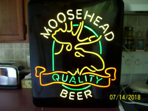 Moosehead lighted bar sign(non neon) 40.or best offer.