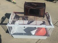 Cage with feeder and carrier for small animal