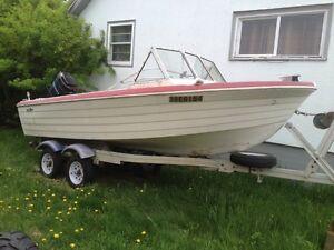 17' Boat. No motor, no trailer.