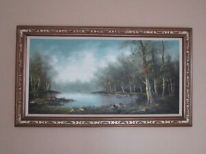 Vintage Oil Painting on Canvas by Wallace