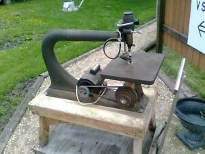 "Huge 24"" throat antique scroll saw"