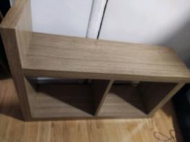 Sofa side table-small-oak-£20