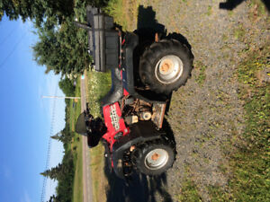 600 grizzly 4x4 with plow