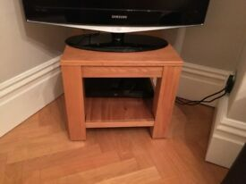 Square oak side table. £30