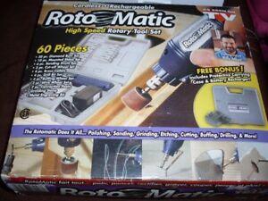 60 piece high speed cordless rotary tool set