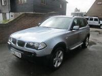 2005 (05) BMW X3 3.0i SPORT AUTOMATIC + FULL BLACK LEATHER