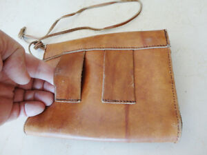 Vintage Leather Belt Sachel Pouch &Vintage Accounting Tally Book Kitchener / Waterloo Kitchener Area image 3
