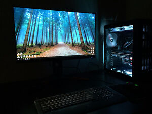 """High end gaming computer + Gsync 165hz 1440p 27"""" monitor"""