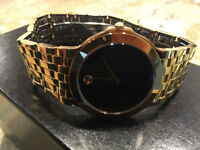 Movado mens Corporate Watch Gold Plated...PRISTINE CONDITION!