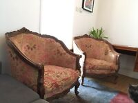 Pair of beautiful hand carved wooden armchairs