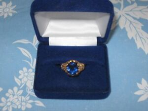 Intricate Blue Ring – size 10 for sale - from estate