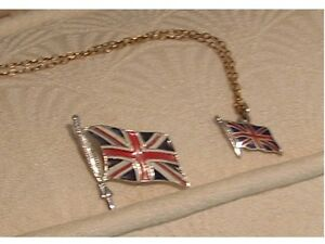 VINTAGE UNION JACK FLAG PIN AND PENDANT