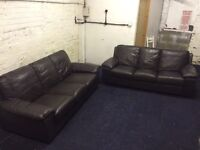 Leather sofas (free delivery)