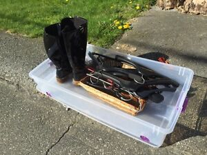 Free boots and clothes hangers