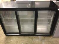 Blizzard black three door bottle fridge cooler