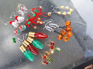 Holiday Themed Earrings!
