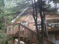 Chalet à louer Ste-agathe-des-monts avec lac-quai accès privé