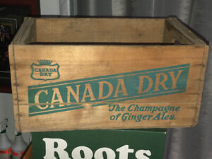 Canada Dry Wood Crate