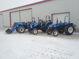 fair priced **NEW** New Holland open station tractors