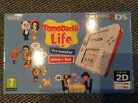 Nintendo 2DS White & Red Tomodachi Life
