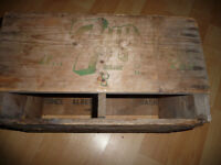 Prince Albert 7 UP Crate Wooden and an Old Pepsi Bottle