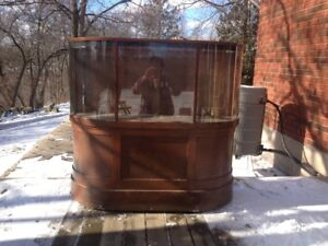 Antique Curved Glass Display Cabinet
