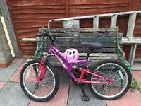 Girls bike suit 7-10 year old